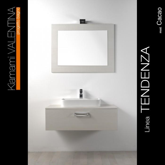 Mobile bagno bianco foresta con lavabo rim arredo news for Arredo bagno bianco