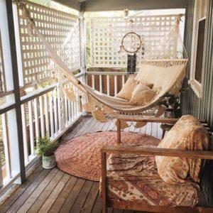 angolo amaca per balcone perfetto