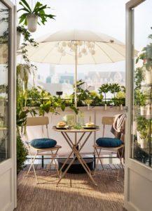 ombrellone per un balcone perfetto