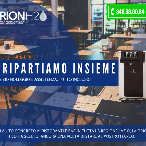 Orion H2O e la campagna Ripartiamo insieme, un aiuto concreto al settore della ristorazione